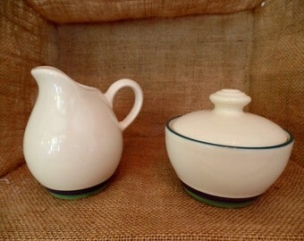 Pfaltzgraff Creamer and Sugar Bowl, Mountain Shadow Pattern