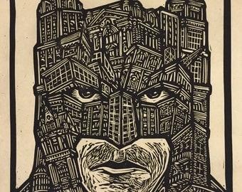 Batman Block Print