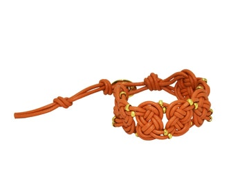 Solmon pink josephine leather bracelet