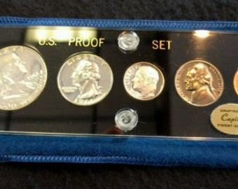 1961 US Silver  Proof Set in Capital Plastic Protective Holder Rare