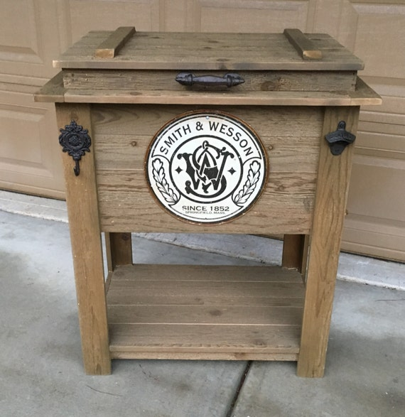 Rustic Wooden Cooler is Great for a Man Cave, Outdoor Bar Cart or Ice Chest - Rustic Wooden Cooler Is Great For A Man Cave Outdoor Bar Cart