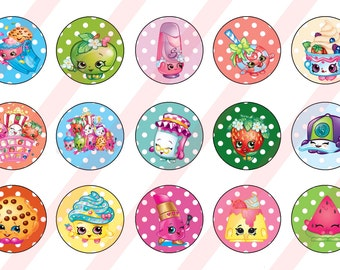 Shopkins 4 sheet combo 1 inch bottlecap  digital images DYI