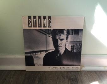 "Sting ""The Dream of Blue Turtles"" vinyl record"