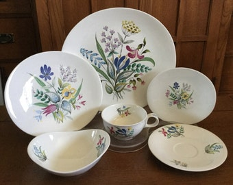 Hallcraft BOUQUET 24 Pc Set For 4 Eva Zeisel Hall 1950s Pattern 1881 #1