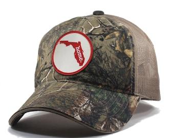 Homeland Tees Florida Home State Realtree Camo Trucker Hat
