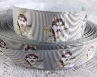 Malamute ribbon Alaskan malamute ribbon 7/8 Siberian Husky ribbon