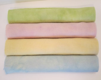 Pastels  hand dyed and felted wool for rug hooking and other fiber arts projects