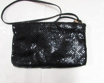 Whiting and Davis Black Mesh Purse
