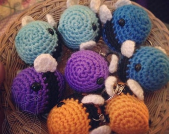 Bumble Bee Keychain (Colors)