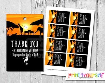 Safari Favor Tags - Zoo Tags - Safari Tags - Animal - Tags - Gift Tags - Favor Tags - Thank You Tags - Printable - Instant Download