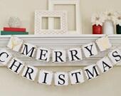 Christmas Banner, Merry Christmas Banner, Gold Christmas Decor, Hipster Christmas, Deer Christmas Decor, Christmas Photo Prop, B007
