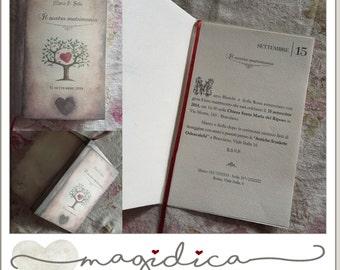 wedding invitations - vintage book watercolor