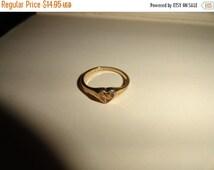 50% OFF Size 8 gold ring 18KT GE Vintage estate