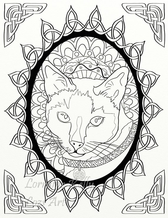 5 X Celtic Knots Animals Adult Coloring Pages Instant PDF