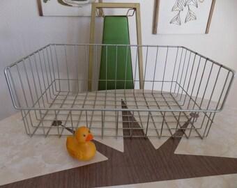 Vintage Wire Basket Storage Organization Midcentury Bin