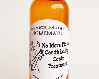 No More Flakes! Anti Dandruff Treatment...Conditioning Scalp Oil..Relief from flakey, itchy scalp with Neem, Tea Tree, and Thyme