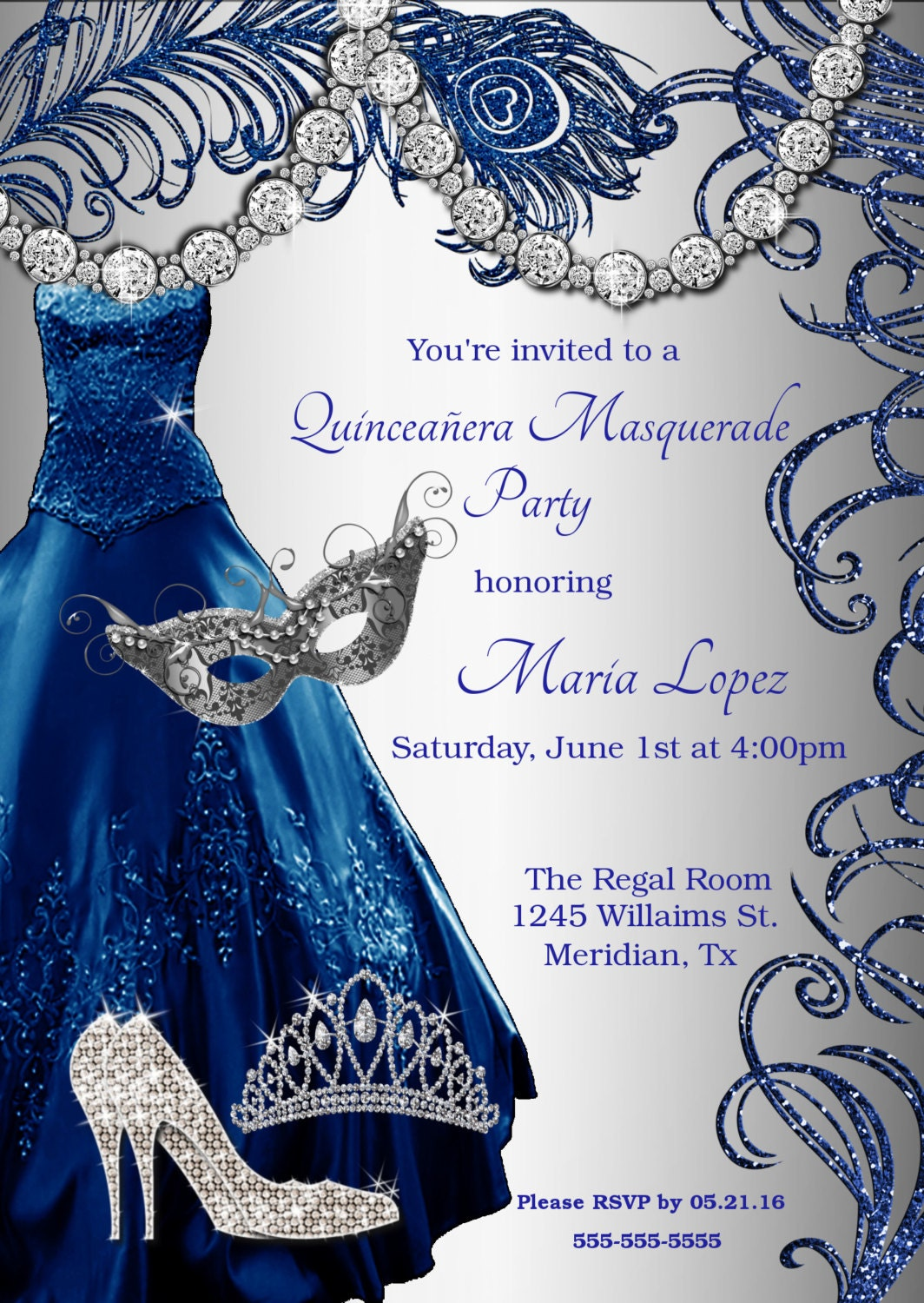 Quinceanera Masquerade Invitation,Sweet 15 Invitations,Sweet ...