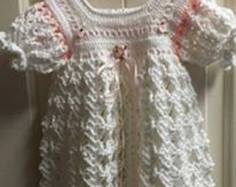 hand made christening gown