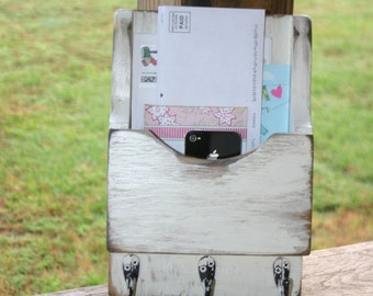 Mail Organizer-Mail Holder-Letter Holder-Organizer-Mail and Key Holder-Wall Mounted Key Rack-Mail Rack-Mail Sorter-Single Mini