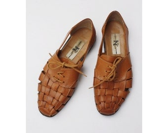 1990s Brown Leather Loafers