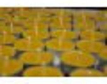 24 100% Bees Wax Tea Light Candles