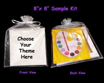 Pre drawn Outlined Stretched Canvas to paint your own paint party or art party favor kit or stretched canvas theme (with or without kit)