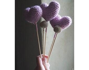 Bunch of heart crochet