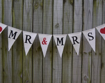 Burlap  Banner MR & MRS  Burlap Banner  wedding Bunting  Decor  Photo Prop Burlap Garland Rustic  Custom Banner