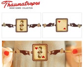 Queen of Hearts. Thaumatrope. Necklace