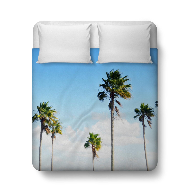 north beach palms housse de couette literie par naturecityco. Black Bedroom Furniture Sets. Home Design Ideas