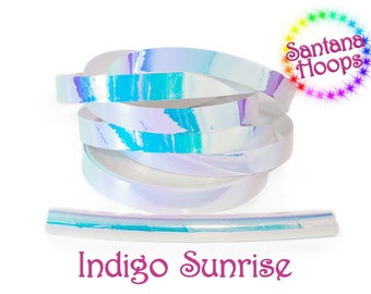 Indigo sunrise Color shifting Morph Taped Performance Hula Hoop Polypro or HDPE
