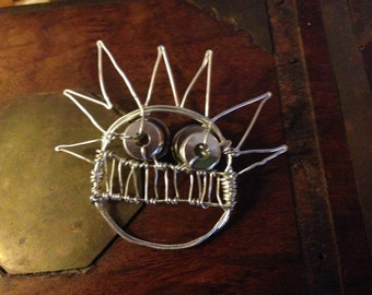 Ween Boognish Wirewrapped pin