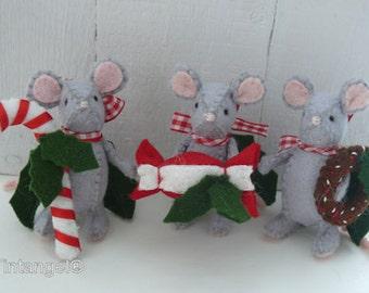 Christmas Candy Mini Mice - DIY kit