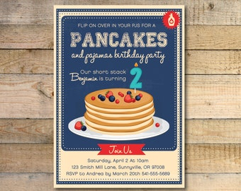 PJs & Pancakes Invitation