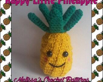 Crochet Pattern - Happy Little Pineapple