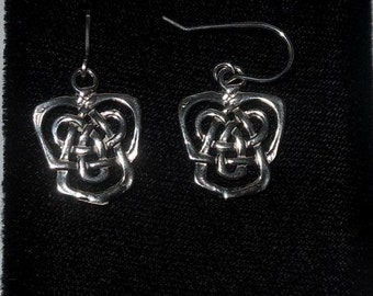 Sterling silver celtic earrings