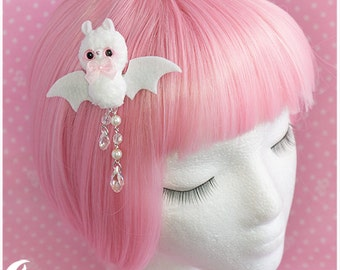 Creepy kei Hairclip white