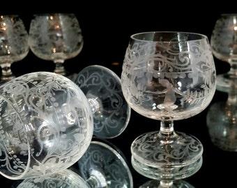 6 Mini Cordials Crystal Goblets Brandi Goblets Flutes Set Wine Glasses