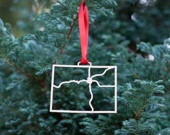 Colorado Highway Christmas Ornament