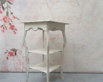 Shabby Chic 3 Tier Side Table