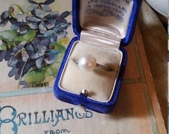 Antique Velvet Ring Box Superb