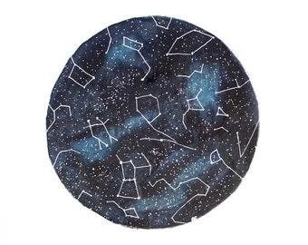 Fine Art Print Watercolor Star Chart Print Constellations Night Sky Painting Blue January