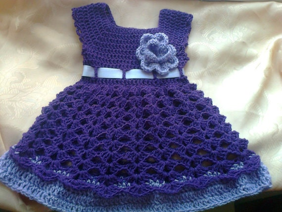 Purple baby dress newborn first outfit take me home dress