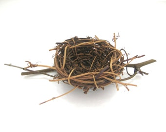 Birds Nest for Crafting and Decor, Grape Vine Twig Birds Nest, Birds Nest for Wedding Decor