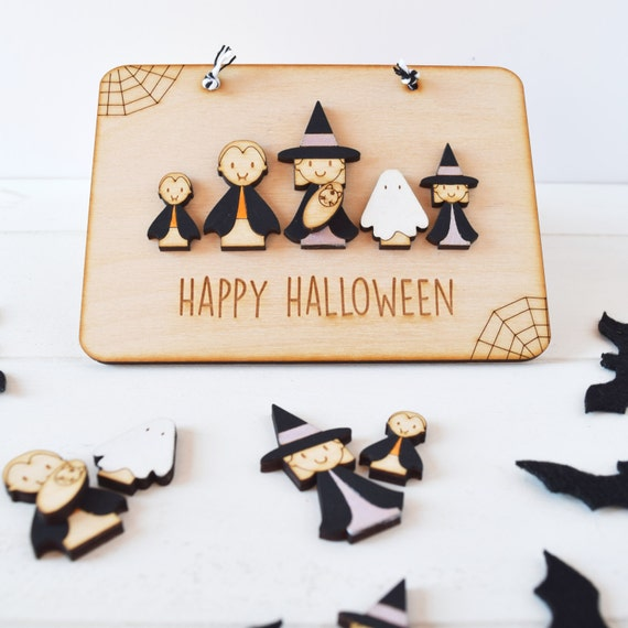Personalised Family Halloween sign- Halloween home decoration- Halloween sign