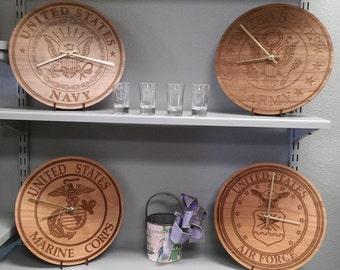 Wooden Military Clocks