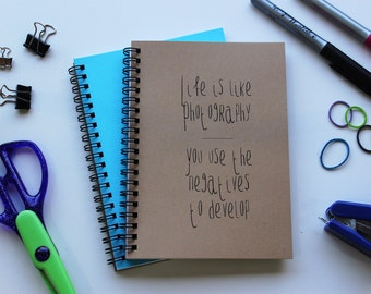life is like photography, you use the negatives to develop - 5 x 7 journal