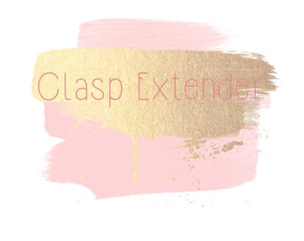 Clasp extender- It will come attached to the jewelry you purchase. Do not buy by itself please.