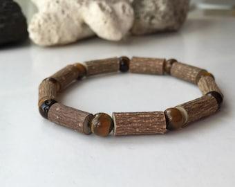 Hazelwood bracelet with gemstones tiger's eye