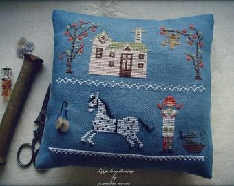 pippi longstocking cross stitch pattern